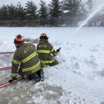 North Liberty Fire Department Training in the Snow